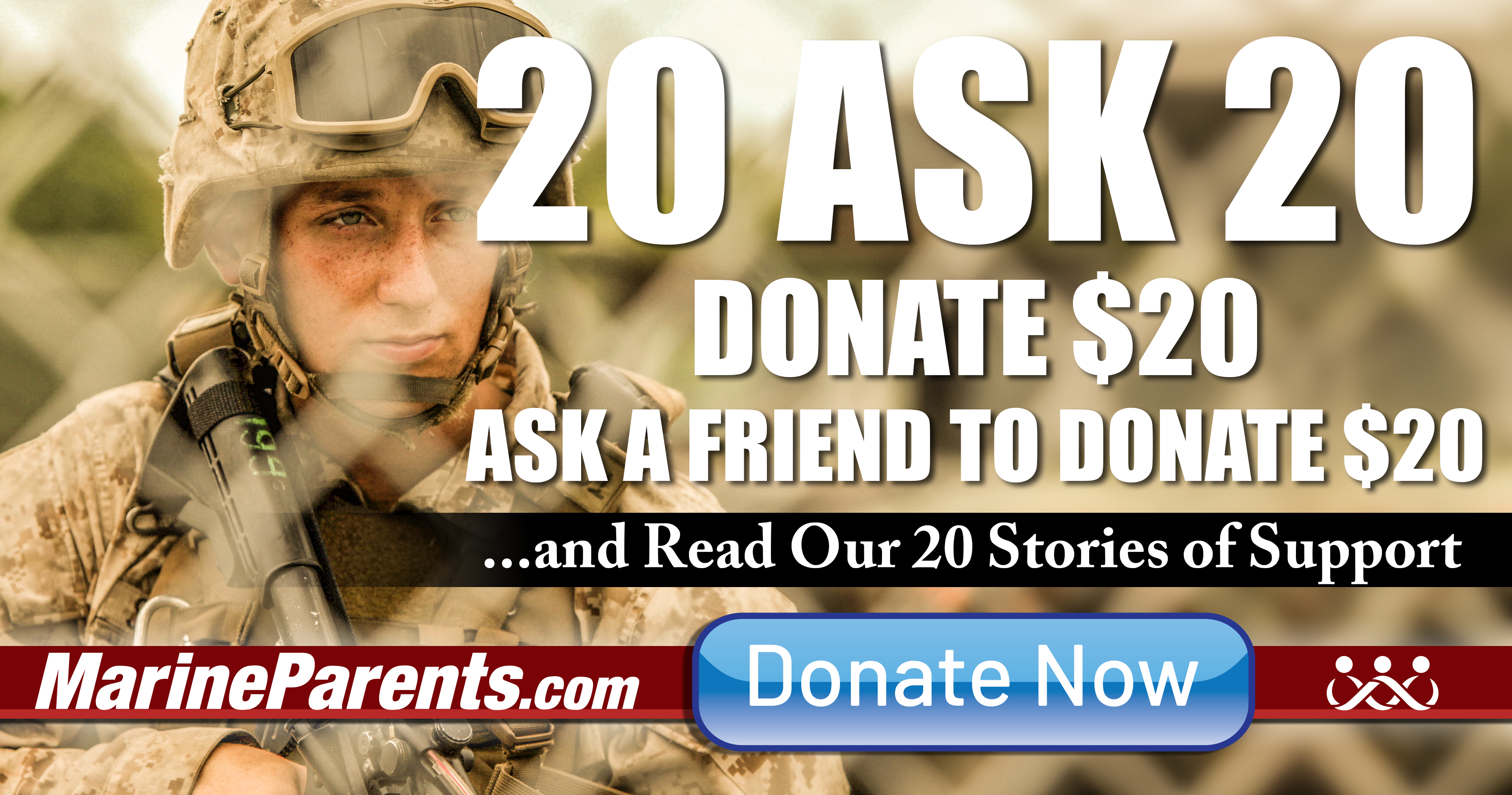 Give 20 Ask For 20 Fundraising Campaign Donate Now