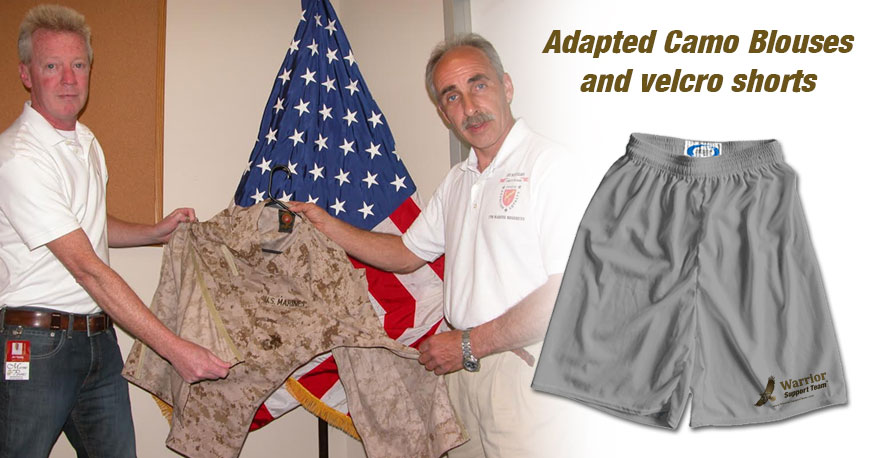 Adapted Camo Blouses and Velcro Shorts