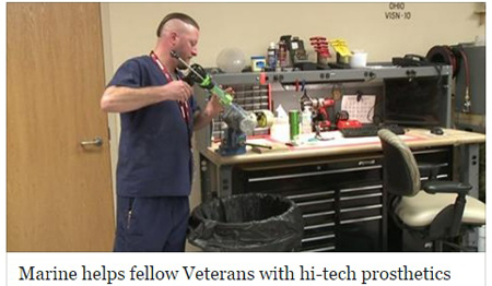 Marine Helps Veterans with Hi-Tech Prosthetics