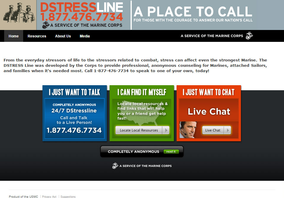 Marine Corps DSTRESS Counseling Line