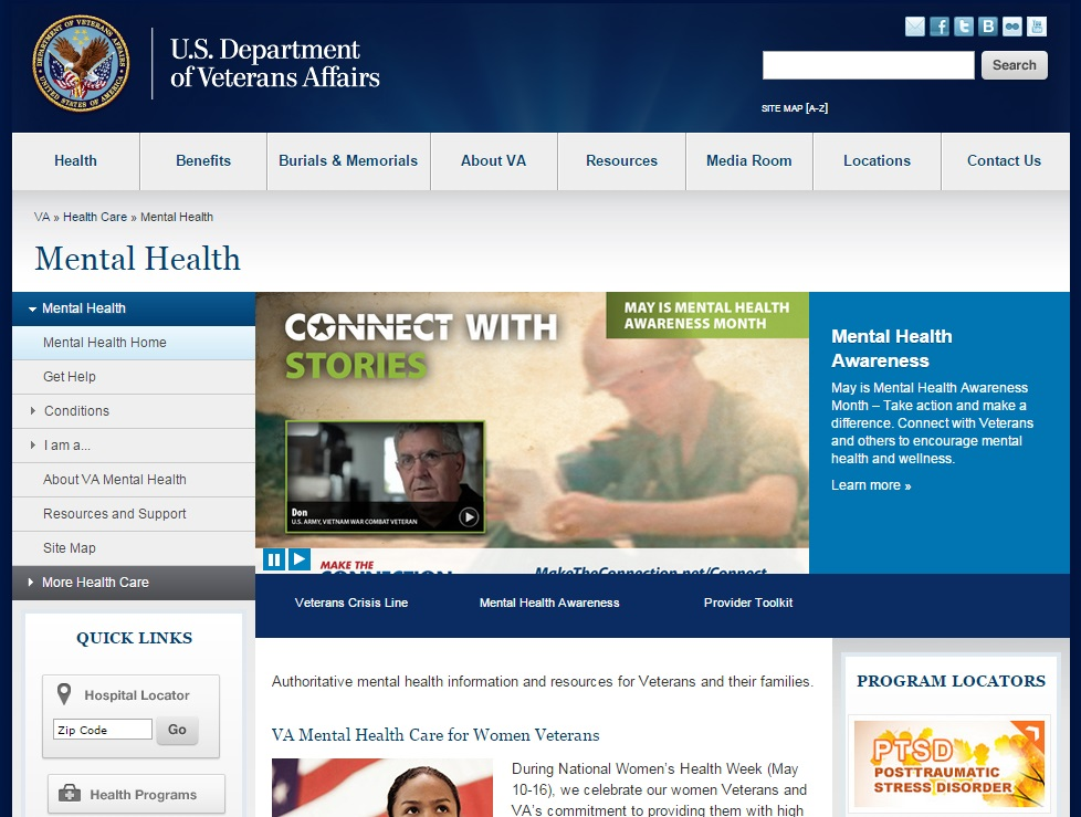 VA Mental Health Website