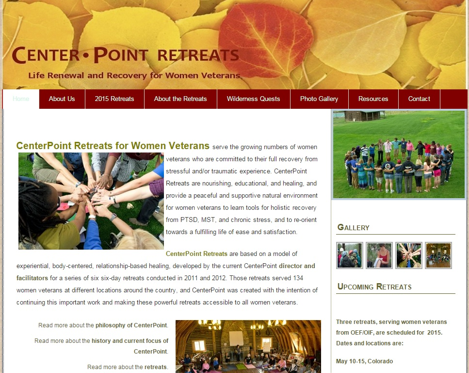 Center Point Retreats Screen Shot