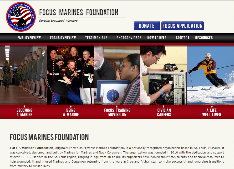 FOCUS Marines Foundation Screen Shot