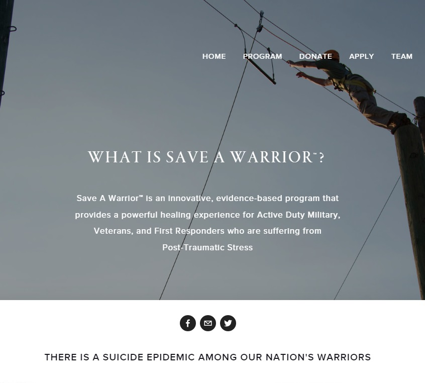 Save a Warrior Logo