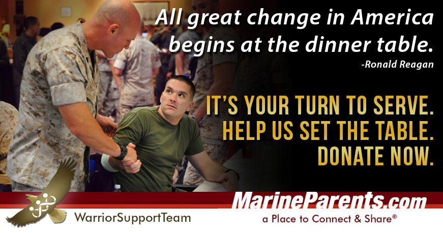 Help us set the table for recovering warriors.